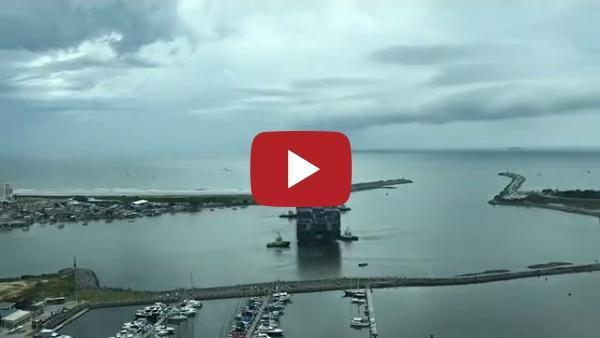 Manobra especial realizada no complexo Portuário de Itajaí